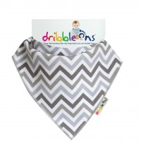 Dribble Ons Designer Dribble Ons - Grey Chevrons