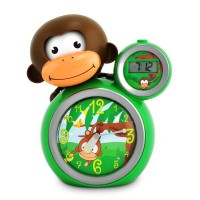 Baby Zoo Sleep Trainer Clock Momo Monkey - Green