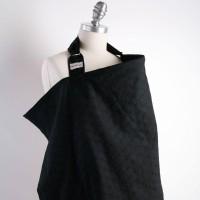 Bebe Au Lait The Original Stylish Cotton Nursing Cover - Black Eyelet