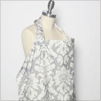 Bebe Au Lait Premium 100% Cotton Nursing Cover - Chateau Silver