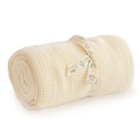 Bizzi Growin Cot Bed Cotton Cellular Blanket - Cream