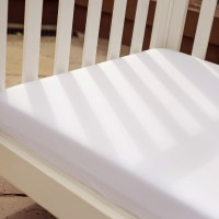 Bizzi Growin Fitted Pram Sheets Twin Pack - White