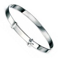 D for Diamond B775 Cross Diamond Bangle