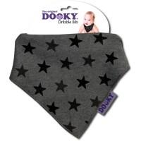 Dooky Dribble Bib - Grey Stars