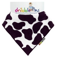 Dribble Ons Designer Dribble on - Cow Print