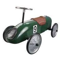 Great Gizmos Retro Racer Sit n Ride Car - Green