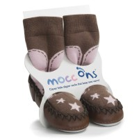 Mocc Ons CowGirl Slipper Socks (12-18 Months)