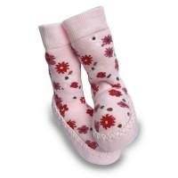 Mocc Ons Floral Slipper Socks (12-18 Months)