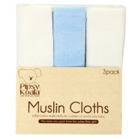 Pipsy Koala Muslin Cloths3 Pack