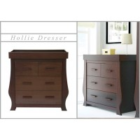 BabyStyle Dresser and Baby Changer - HOLLIE WALNUT