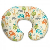 Boppy Breastfeeding Pillow With Cotton Slipcover - Peaceful Jungle